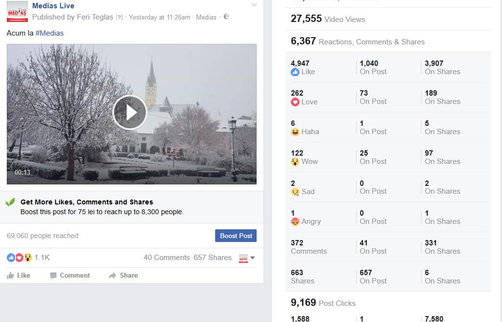 Video vs. Foto in postari pe Facebook